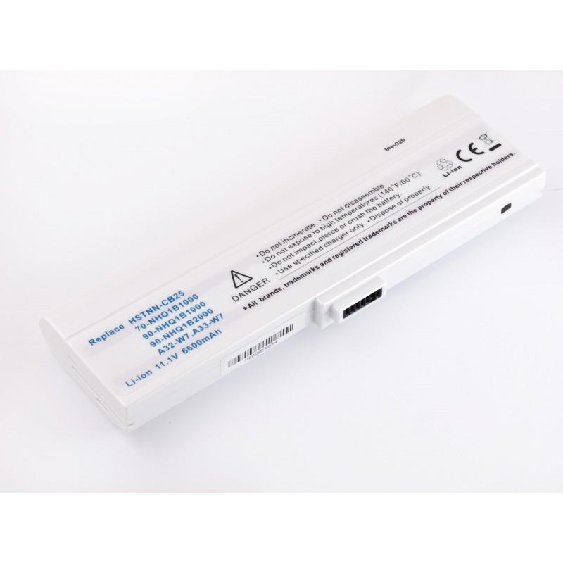 Батарея Asus M9, W7, A32-M9, A33-W7, 11,1V 6600mAh White