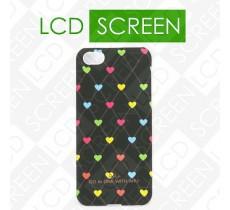 Чехол ARU для iPhone 5C Hearts Dark Brown