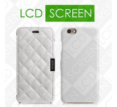 Чехол iCarer для iPhone 6 Microfiber Check White (side-open) (RIP604)