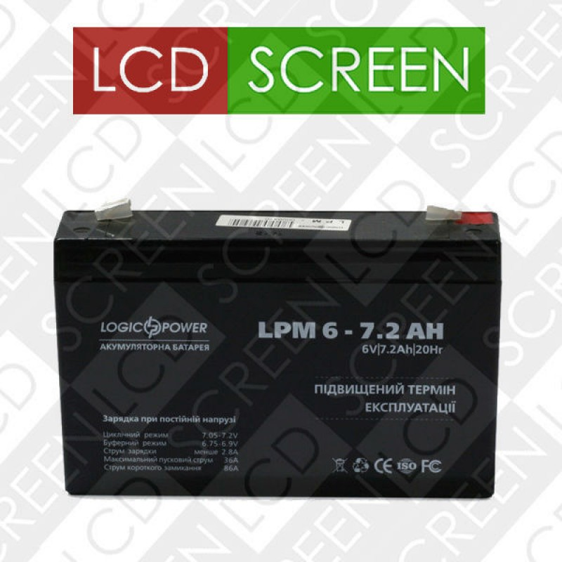 Аккумулятор LPM 6-7.2 AH