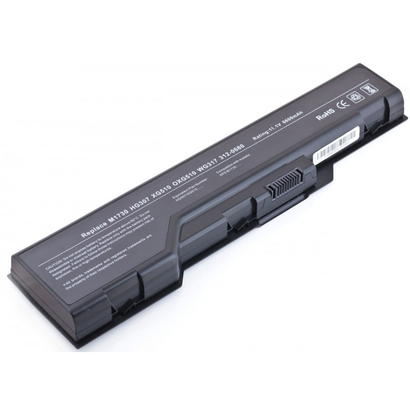 Батарея Dell XPS M1710, M1730, 11,1V, 6600mAh, Black