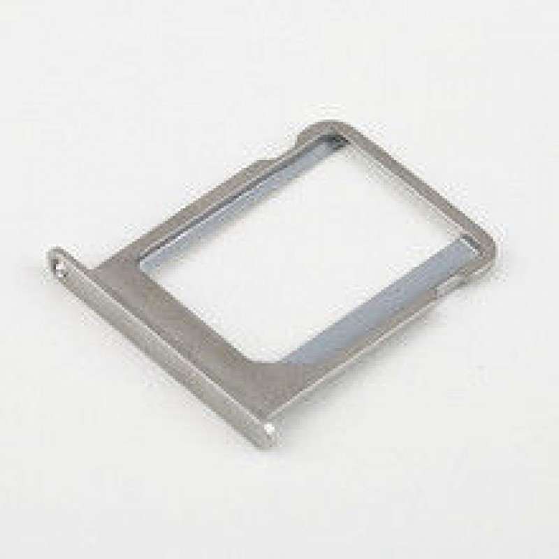 Metal Micro SIM Card Tray Holder Parts For iPhone 4 SILVER