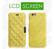 Чехол iCarer для iPhone 6 Microfiber Check Yellow (side-open) (RIP604)