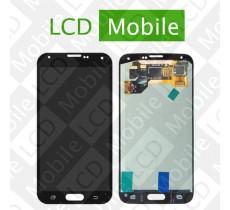 Дисплей для Samsung Galaxy S5 G900, G900A, G900H, G900F с сенсорным экраном, черный, модуль ( дисплей + тачскрин )
