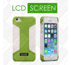 Чехол iCarer для iPhone 5/5S Colorblock Green/White (back cover) (RIP518)