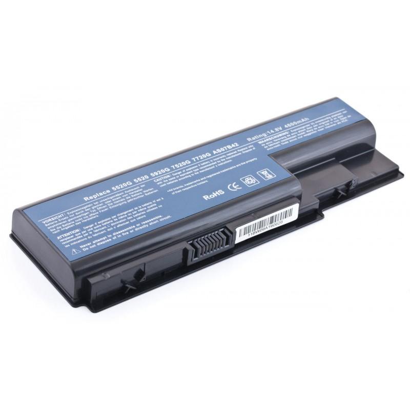 Батарея Acer Aspire 5720, 6530, 6930, 7738, 8530 Extensa 5630, 7230, 7620 14,8V 4400mAh Black