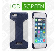 Чехол iCarer для iPhone 5/5S Colorblock Blue/White (back cover) (RIP518)