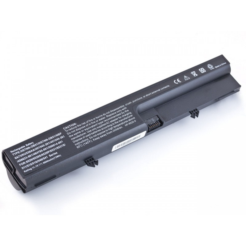 Батарея HP 6530b, 6730b, EliteBook 6930p, 8440p, ProBook 6540b, 10,8V 6600mAh Black