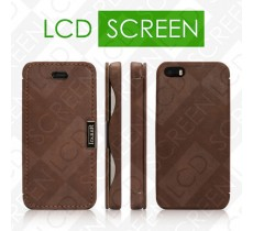 Чехол iCarer для iPhone 5/5S Vintage Brown (side-open) (RIP527)