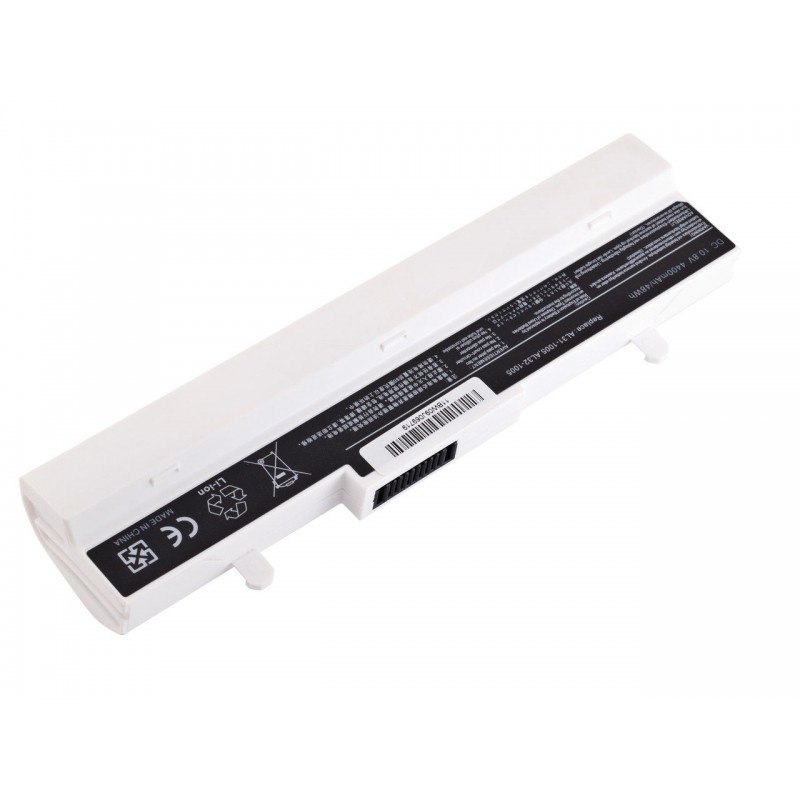 Батарея Asus Eee PC 1001HA, 1005, 1101, 10,8V 4400mAh White