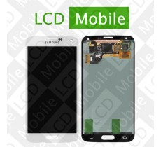 Дисплей для Samsung Galaxy S5 G900, G900A, G900H, G900F с сенсорным экраном, белый, модуль ( дисплей + тачскрин )