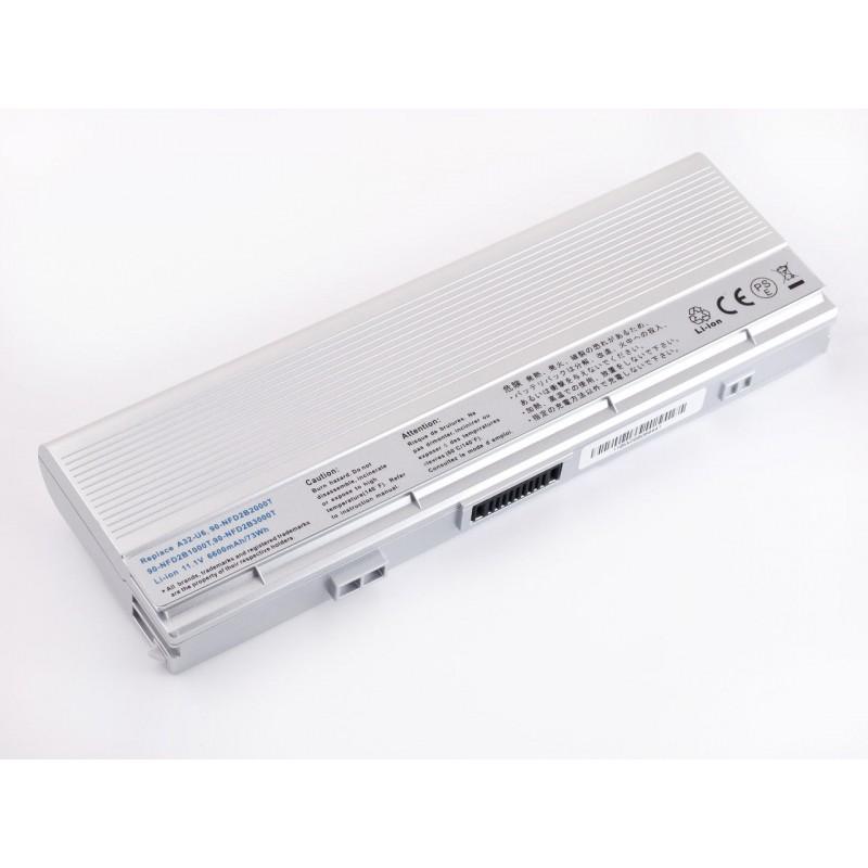 Батарея Asus U6, A32-U6, 11,1V 6600mAh Silver