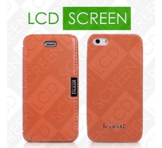 Чехол iCarer для iPhone 5/5S Luxury Orange (side-open) (RIP514)