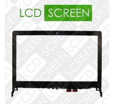 Тачскрин для ноутбука Lenovo Flex 2 14, черный с рамкой, touch screen, сенсорный экран