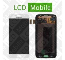 Дисплей для Samsung Galaxy S6 G920, G920F с сенсорным экраном, белый, модуль ( дисплей + тачскрин )