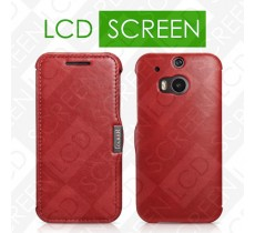 Чехол iCarer для HTC One M8 Vintage Red (side-open) (RHM80002)