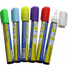 Набор маркеров для LED доски (6 цветов) 8 мм