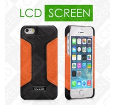 Чехол iCarer для iPhone 5/5S Colorblock Black/Orange (back cover) (RIP518)