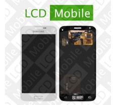 Дисплей для Samsung Galaxy S5 mini G800, G800H с сенсорным экраном, белый, модуль ( дисплей + тачскрин )