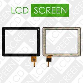 Тачскрин для планшета China-Tablet PC 8, черный, емкостный, 12 pin, (197*150 мм), 144-080, touch screen, сенсорный экран