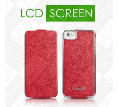 Чехол iCarer для iPhone 5/5S Electroplating Red (flip) (RIP512)