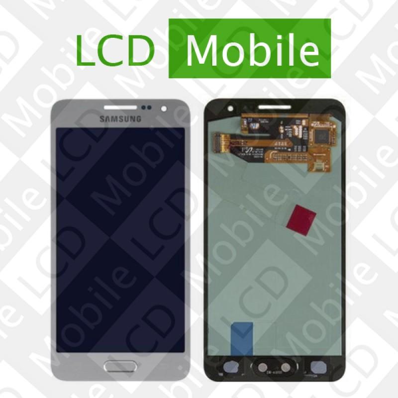 Дисплей для Samsung Galaxy A3 A300, A300F, A300FU, A300H  с сенсорным экраном, серебристый, модуль ( дисплей + тачскрин )