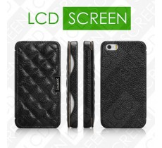 Чехол iCarer для iPhone 5/5S Classic Check Black (side-open) (RIP519)