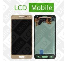 Дисплей для Samsung Galaxy Alpha G850, G850F с сенсорным экраном, золотистый, модуль ( дисплей + тачскрин )