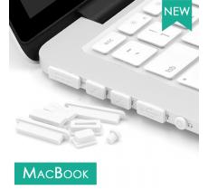 Заглушки от пыли для Apple MacBook, пылезащитные заглушки, белые