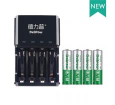 Зарядное устройство Delipow DLP-406 для аккумуляторов АА/ААА 4 слота + 4 аккумулятора AA 3000 mAh
