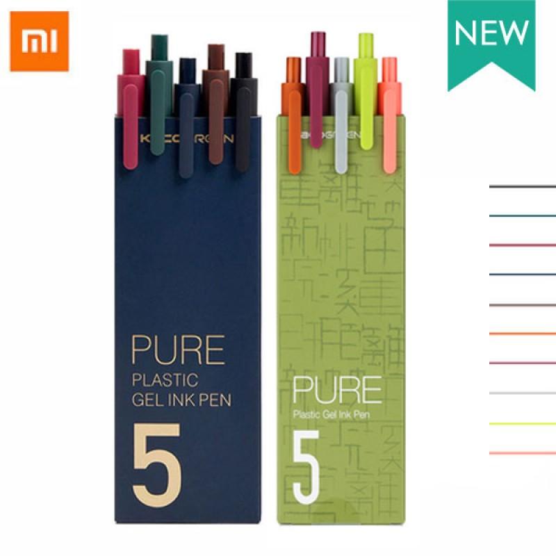 Набор гелевых ручек Xiaomi KACO Pure Plastic Gel Ink Pen K1015 10 цветов, 5 шт. Retro + 5 шт. Retro II