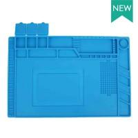 Термостойкий коврик для ремонта мобильных телефонов S-160 450 * 300 мм, подставка силиконовая для разборки и пайки электроники