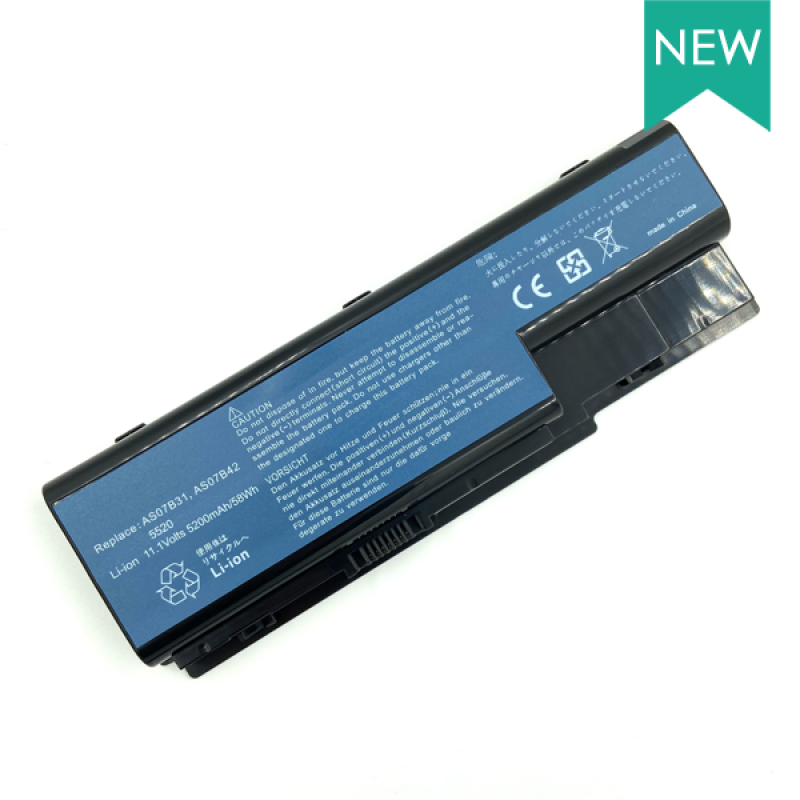 Батарея Acer Aspire 5220, 5230, 5330, 5520, 5710, 5920, 7520, 8930, Extensa 7230, 7630, TravelMate 7230, 7330, 7530, 7730, 11,1 V 5200 mAh, AS07B31, черный, аккумулятор для ноутбука