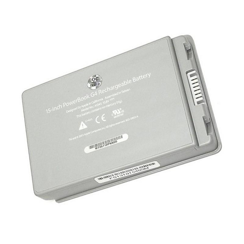 Батарея Apple PowerBook G4 A1046, A1095, A1106, A1138, M8980JA, M8981JA, M9421, M9422, M9676A, M9677A, M9969A 15-inch, 10,8 V 4400 mAh, A1078, серый, аккумулятор для ноутбука