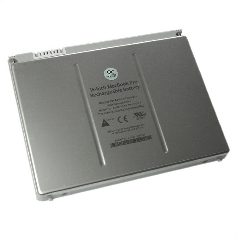 Батарея Apple MacBook Pro 15-inch, 10,8 V 5600 mAh, A1175, серебристый, аккумулятор для ноутбука