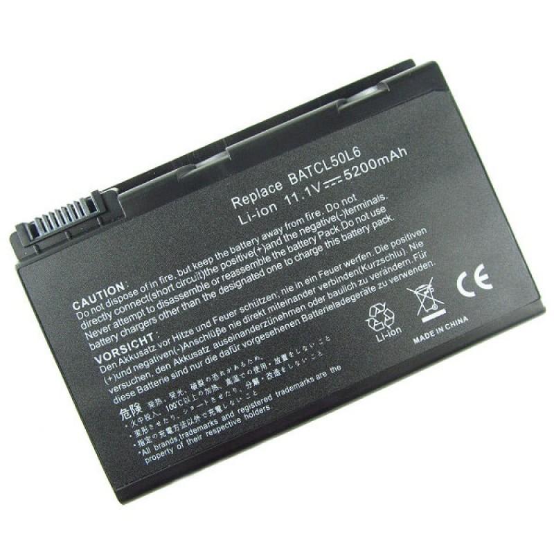 Батарея Acer Aspire 9010, 9100, 9101, 9102, 9103, TravelMate 290, 290E, 291, Compal CL50, 11,1 V 5200 mAh, BATBL50L6, черный, аккумулятор для ноутбука