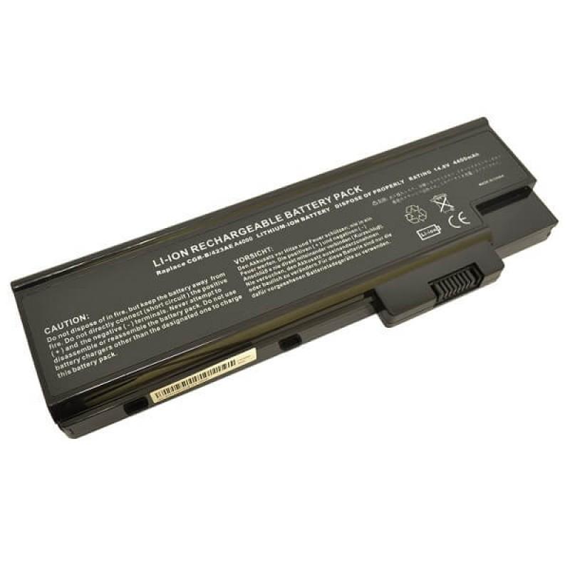 Батарея Acer Travelmate 2300, 4000, 4100, 4500, 4600, Aspire 1000, 3000, 5000, Extensa 3001, 3002, 3003, 14,8 V 4400 mAh, QC192, черный, аккумулятор для ноутбука
