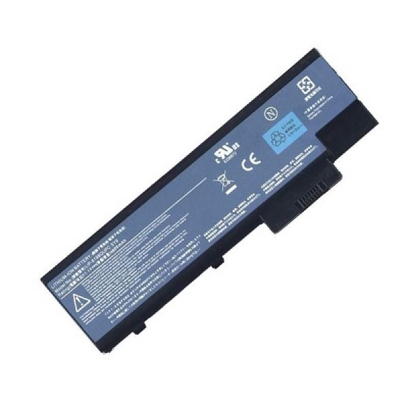 Батарея Acer Travelmate 2300, 4000, 4100, 4500, 4600, Aspire 1000, 3000, 5000, Extensa 3001, 3002, 3003, 11,1 V 5200 mAh, QC192, черный, аккумулятор для ноутбука
