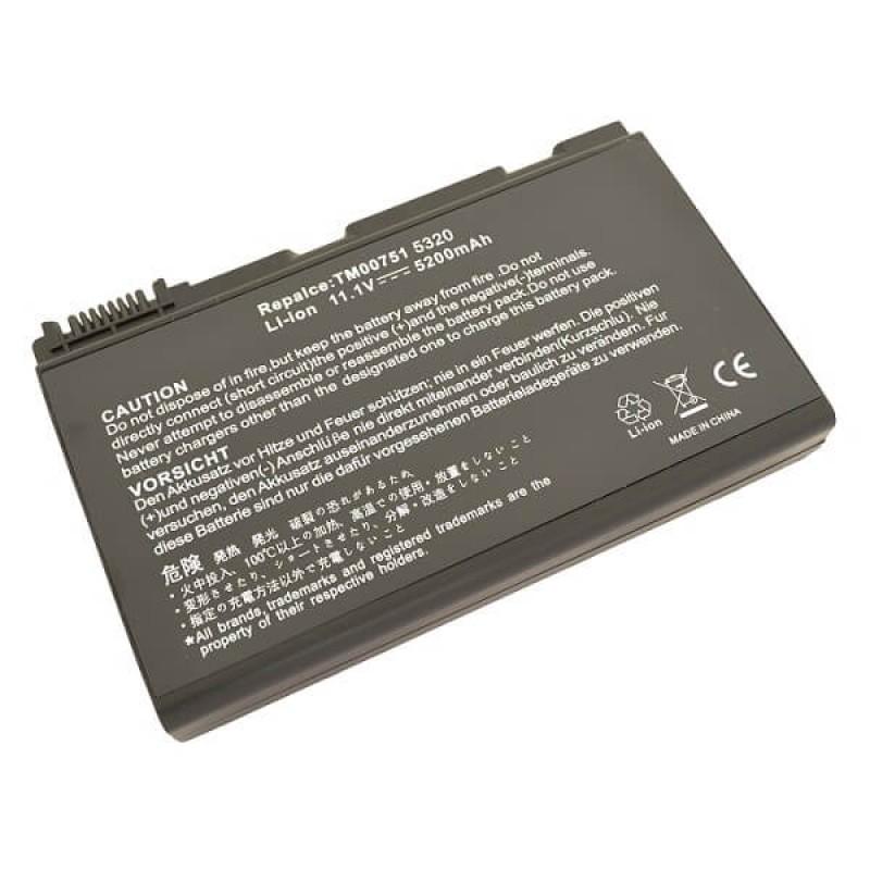 Батарея Acer Extensa 5210, 5220, 5630, 7220, 7620, TravelMate 5310, 5710, 6410, 6414, 6460, 6463, 6464, 6465, 11,1 V 5200 mAh, TM00741, черный, аккумулятор для ноутбука
