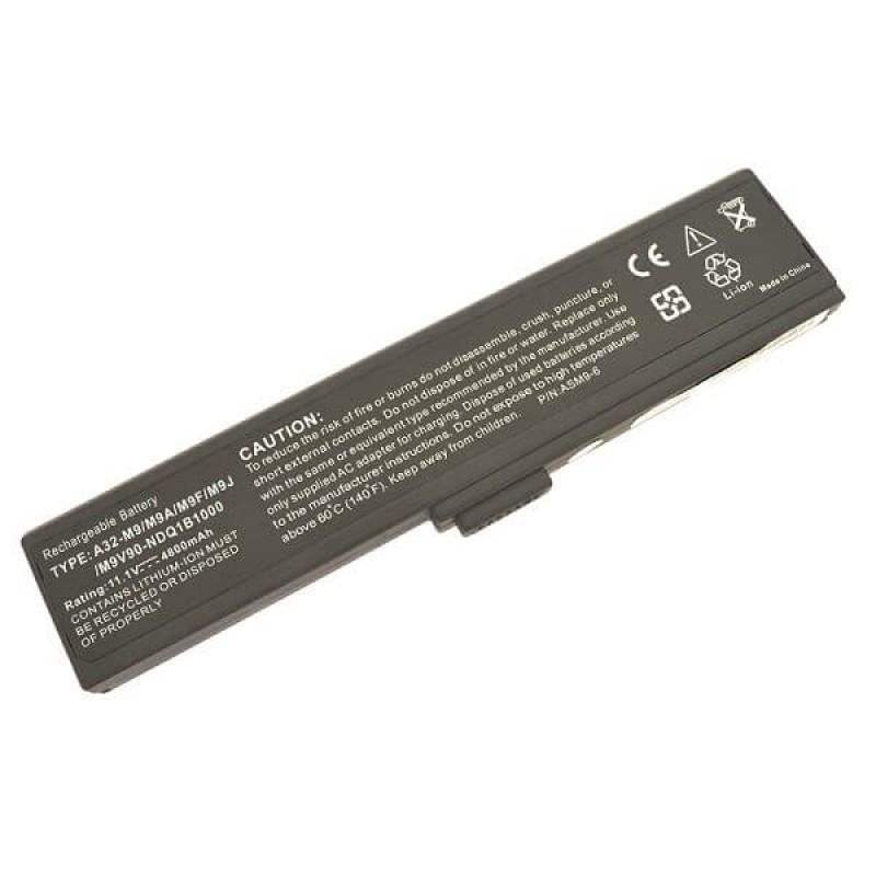 Батарея Asus M9 Series M9A, W7 Series W7F, Compaq Presario B2800 Series B2801TX, 11,1 V 4800 mAh, A32-W7, черный, аккумулятор для ноутбука