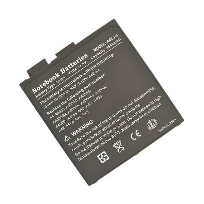 Батарея Asus A4, A4000, 14,8 V 4800 mAh, A42-A4, черный, аккумулятор для ноутбука