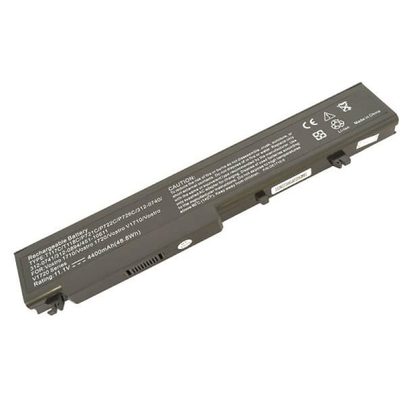 Батарея Dell Vostro 1710, 11,1 V 4400 mAh, T118C, черный, аккумулятор для ноутбука