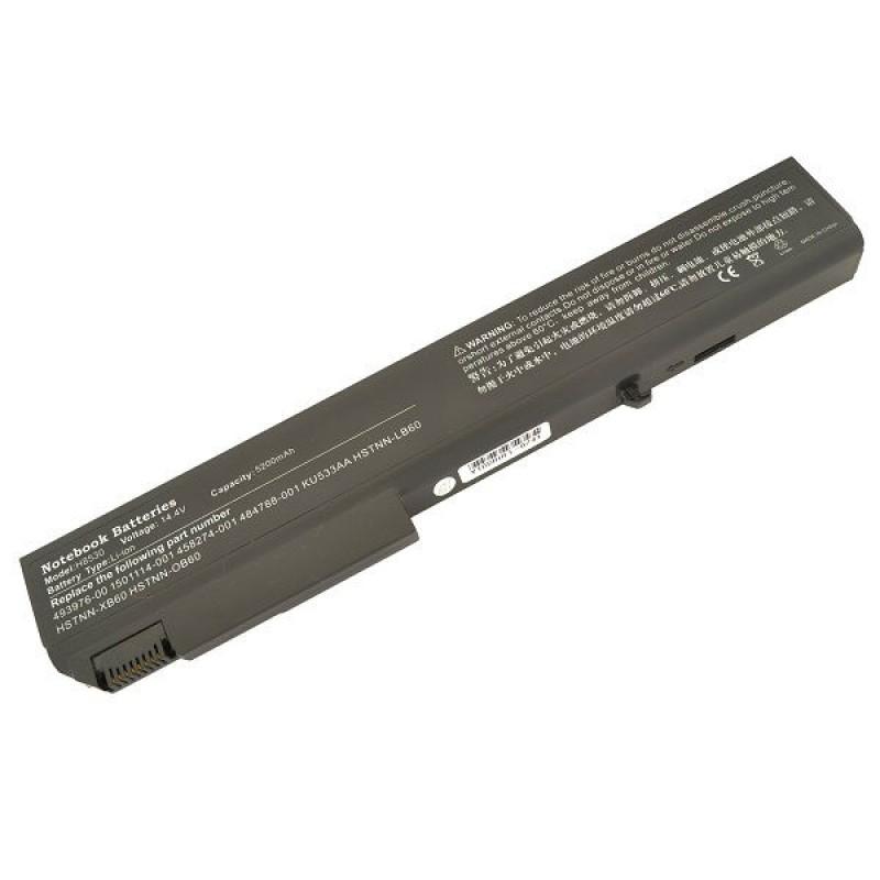 Батарея HP Compaq EliteBook 8730W, 14,4 V 5200 mAh, HSTNN-OB60, черный, аккумулятор для ноутбука