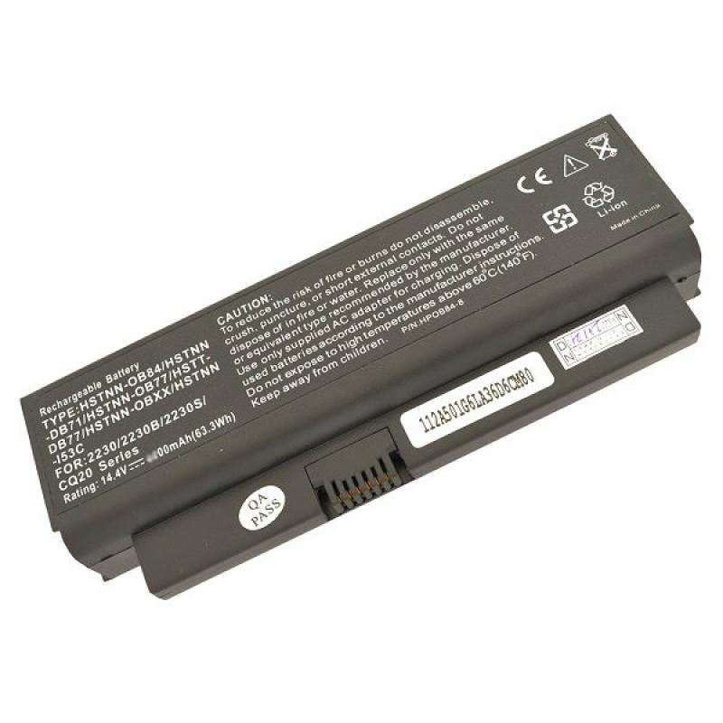 Батарея HP Compaq Business Notebook 2230, 2230b, 2230s, Presario CQ20, 14,4 V 5200 mAh, HSTNN-OB77, черный, аккумулятор для ноутбука