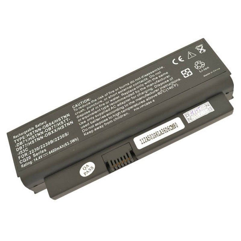 Батарея HP Compaq Business Notebook 2230, 2230b, 2230s, Presario CQ20, 14,4 V 4400 mAh, HSTNN-OB77, черный, аккумулятор для ноутбука