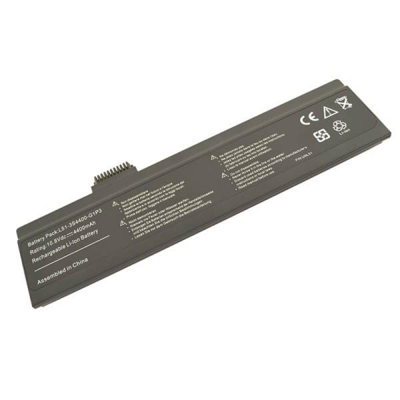 Батарея Fujitsu-Siemens Amilo Li 1818, Li 1820, Pa 1510, Pa 2510, Pi 1505, Pi 2512, Pi 2515, Pi 2530, 10,8 V 4400 mAh, L51-4S2000-G1L1, черный, аккумулятор для ноутбука