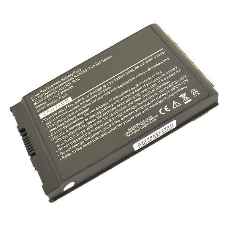 Батарея HP Compaq Business Notebook 4200, NC4200, NC4400, TC4200, TC4400, 11,1 V 5200 mAh, PB991A, черный, аккумулятор для ноутбука