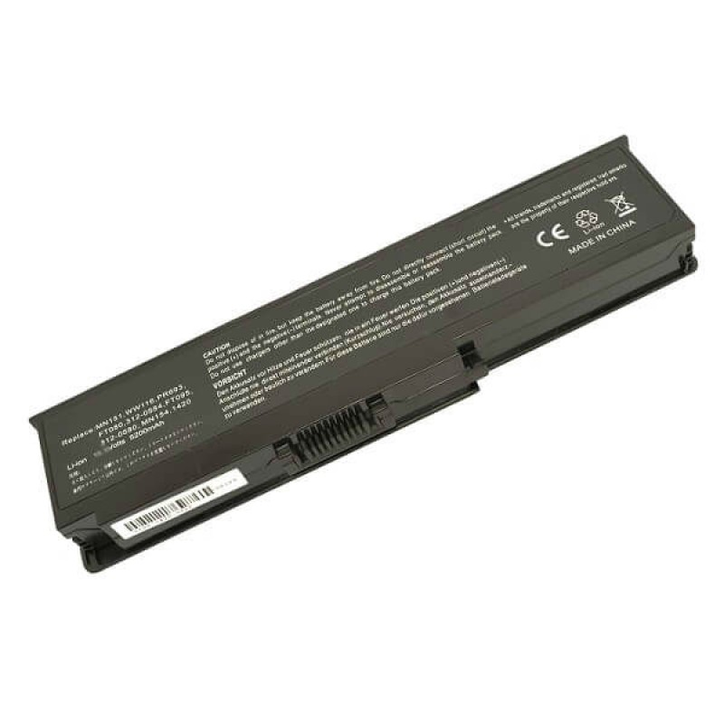 Батарея Dell Inspirion 1400, 1420, Vostro 1400, 1420, 10,8 V 5200 mAh, WW116, черный, аккумулятор для ноутбука