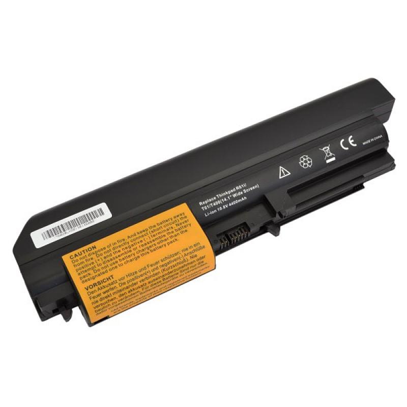 Батарея IBM-Lenovo ThinkPad R400 7443, ThinkPad R61, ThinkPad R61i, ThinkPad T400, ThinkPad T61, ThinkPad T61p, 10,8 V 4400 mAh, 41U3196, черный, аккумулятор для ноутбука