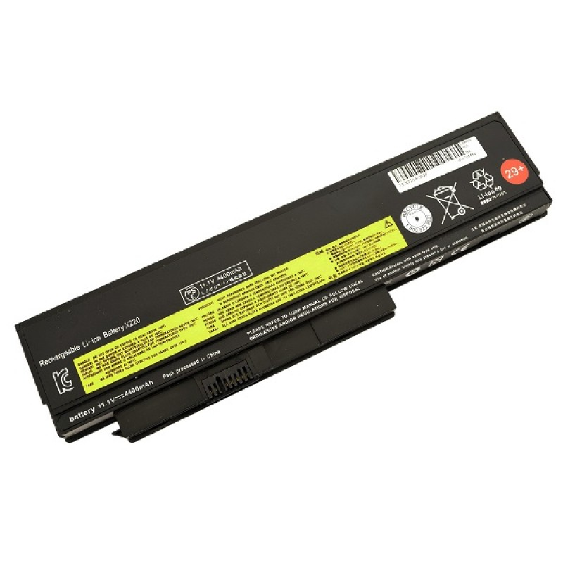 Батарея IBM-Lenovo ThinkPad X220, X220S, X220i, 11,1 V 4400 mAh, 42T4940, черный, аккумулятор для ноутбука